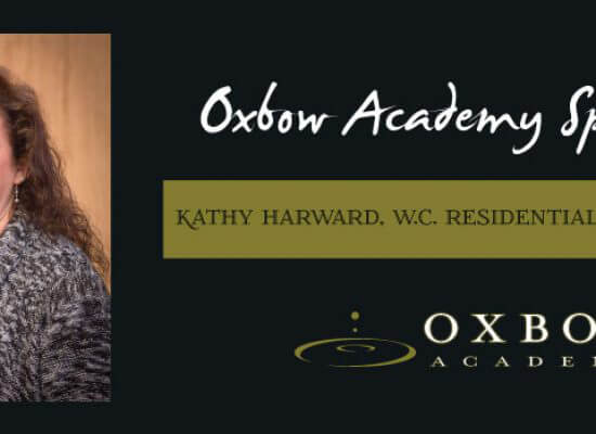 Oxbow Honors Kathy Harward- Residential Excellence