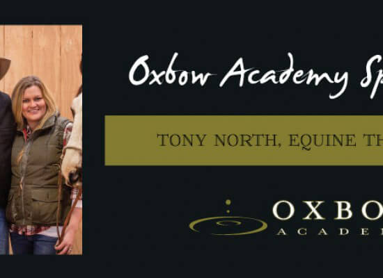 Oxbow Academy Honors Tony North- Equine Excellence